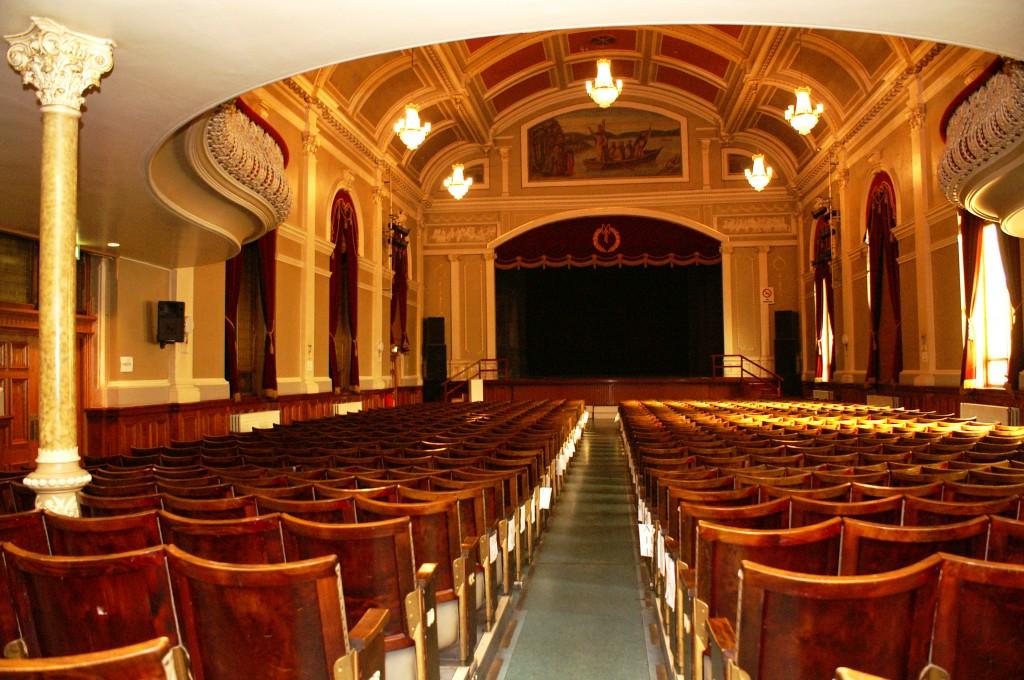 St Columbs Hall Interior Historic Image