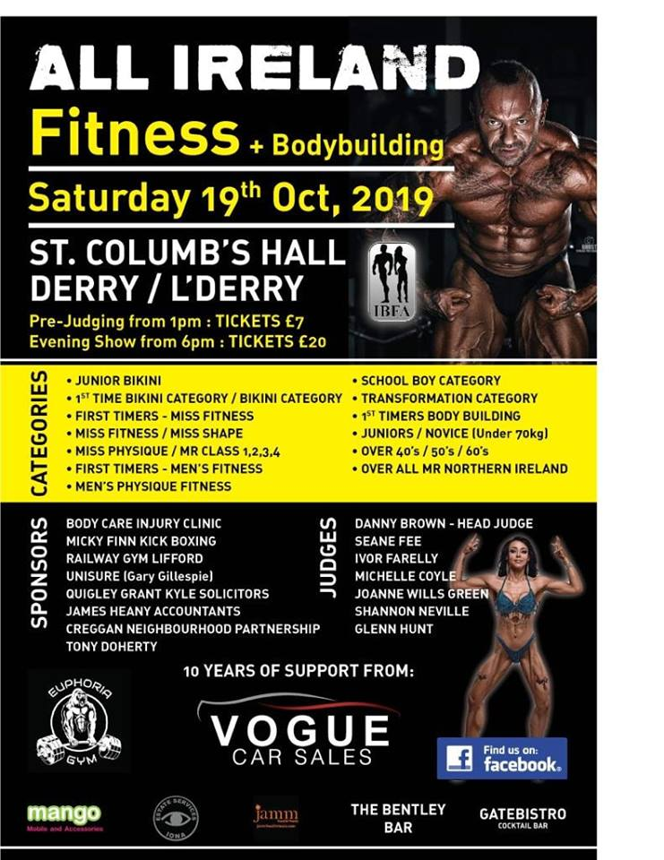 Ibfa All Ireland Fitness And Body Building
